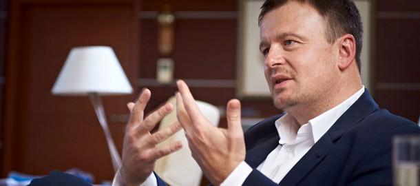 Miroslav Rakowski prezes T-mobile u siebie w gabinecie