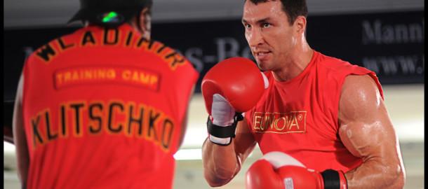 Pressetraining zum Kampf Wladimir Klitschko vs. Dereck Chisora in Heidelbergf