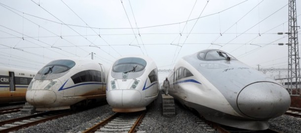 Bullet trains for the Beijing-Shanghai Hi-Speed Railway
