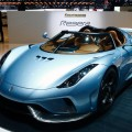 The Koenigsegg Regera hybrid supercar is seen during the second press day ahead of the 85th International Motor Show in Geneva