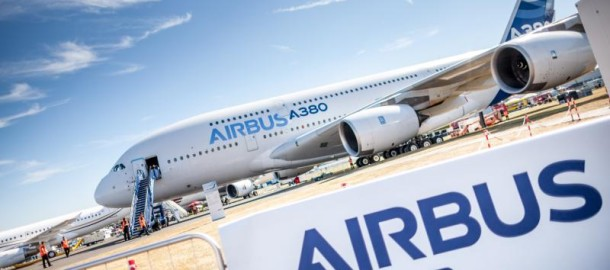 The A380 at Farnborough Air Show 2014