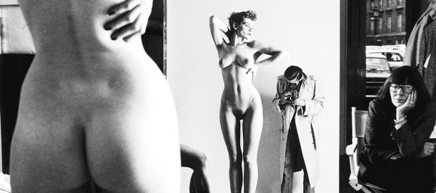 Helmut-Newton-Self-Portrait-with-Wife-and-Models