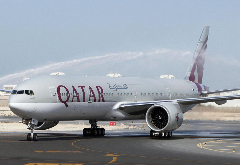 The first-ever Boeing aircraft 777 delivered to the state-owned Qatar Airways stands on the runway at Doha airport, 29 November 2007. Earlier this month, the rapidly expanding airline ordered from the US aircraft manufacturer 30 Boeing 787 Dreamliners and five 777 cargo planes in a deal valued at over 6.1 billion dollars at list prices. AFP PHOTO/STR (Photo credit should read -/AFP/Getty Images)