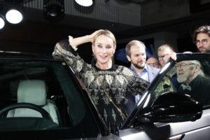 ; Range Rover Velar - promocja najnowszego modelu samochodu z rodziny Range Rover, Gielda Papierow Wartosciowych, Warszawa, 2017.05.09; fot. Krzysztof Jarosz / EPOKA