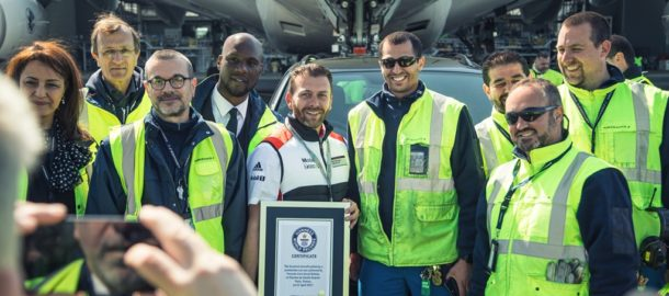rekord Guinnessa Air France A380 i Porche Cayenne