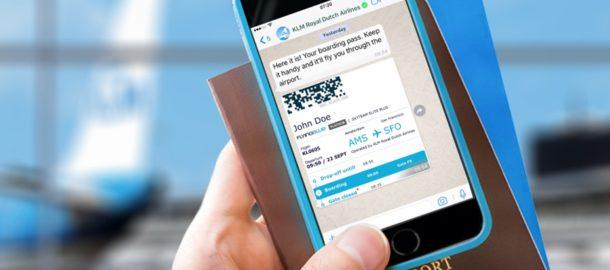 KLM karta pokładowa whatsapp