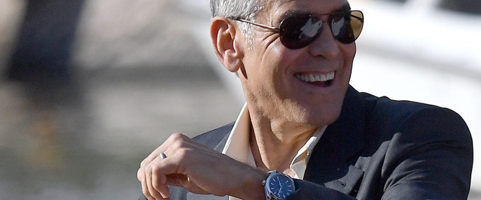 Venice FF_George Clooney wearing Omega Aqua Terrabbb