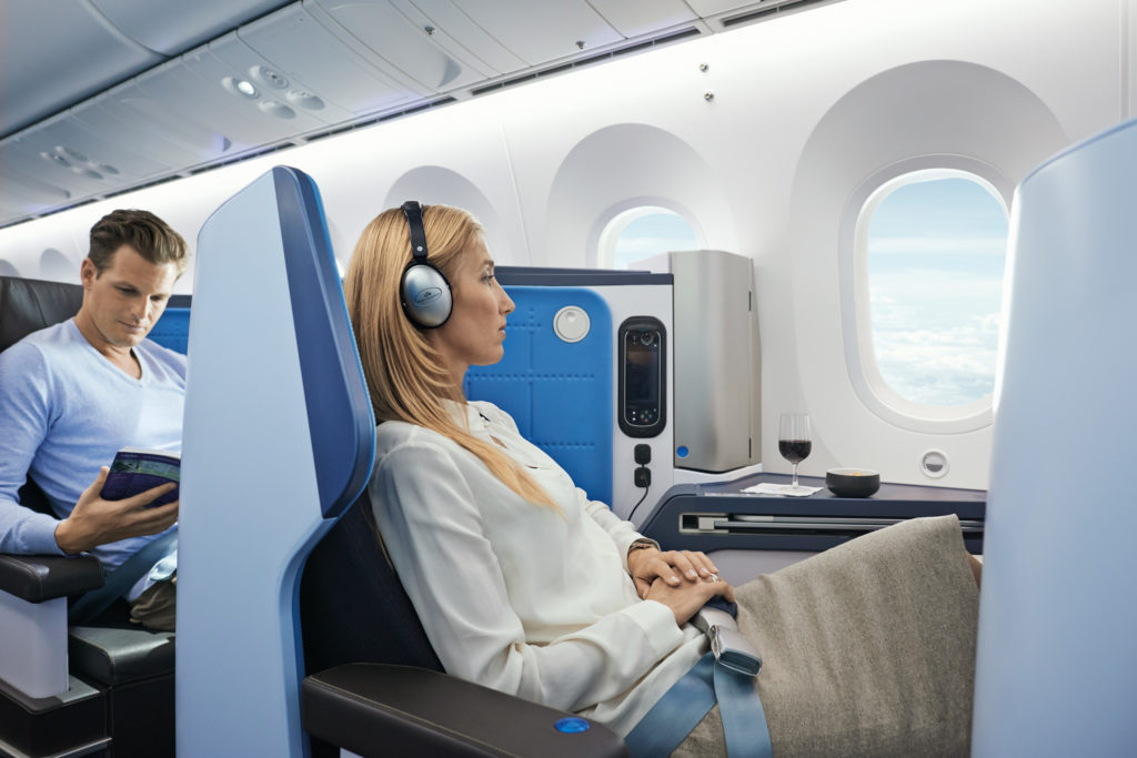 Klasa Biznes KLM kabina 787