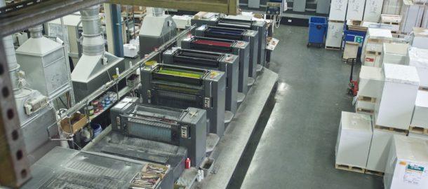 1000 Meilen Wind druck in der Druckerei Asmuth