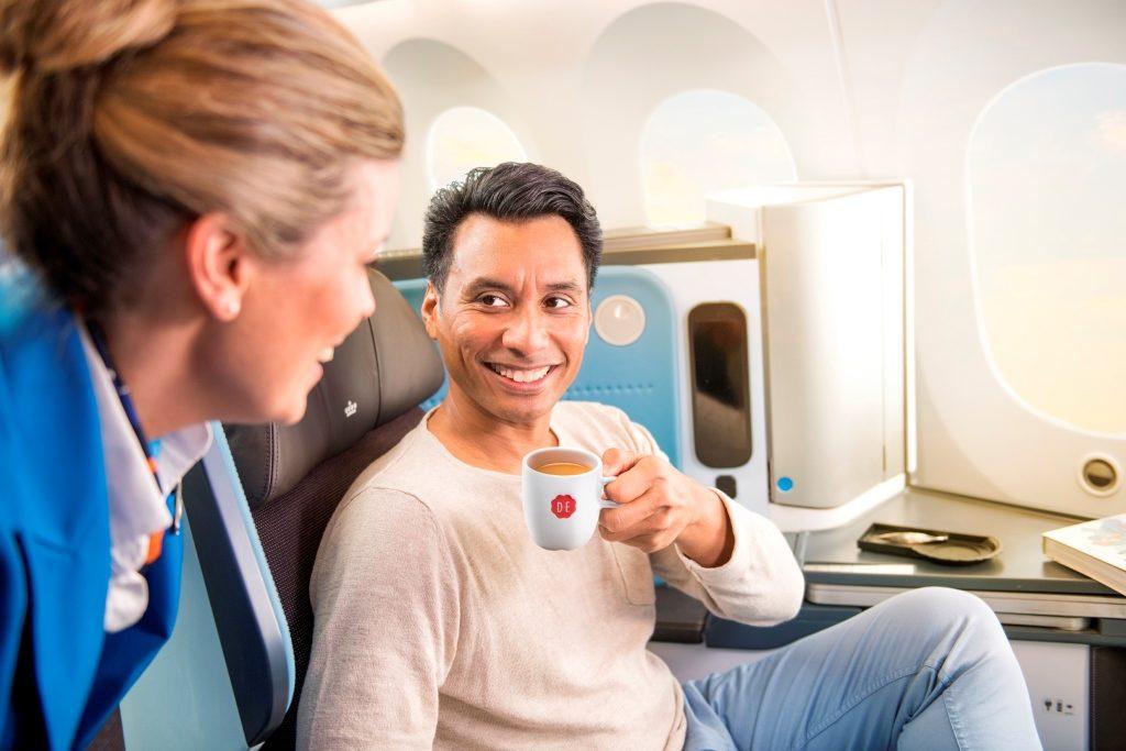 nowa kawa na pokladzie KLM